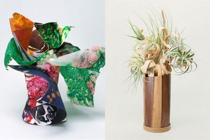 粘贴画花瓶上的花