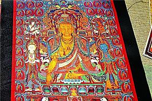 几近失传的齐吾岗巴派唐卡重现 13世纪流行藏区