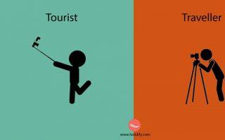 这十二张卡通插图 道出了游客与旅行者之间的差异