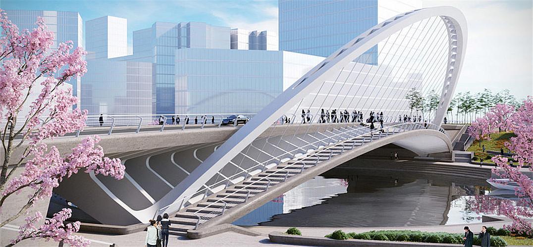 西班牙桥梁设计大师设计了三座跨河大桥图片