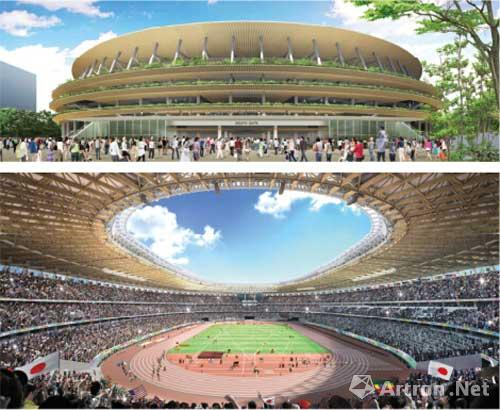 日本公布2020奥运会主会场两项设计图 均大量使用木结构