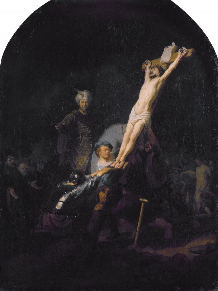 伦勃朗《高举十字架》