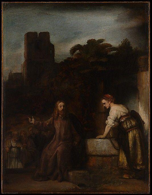 伦勃朗《基督和撒马利亚的女人》