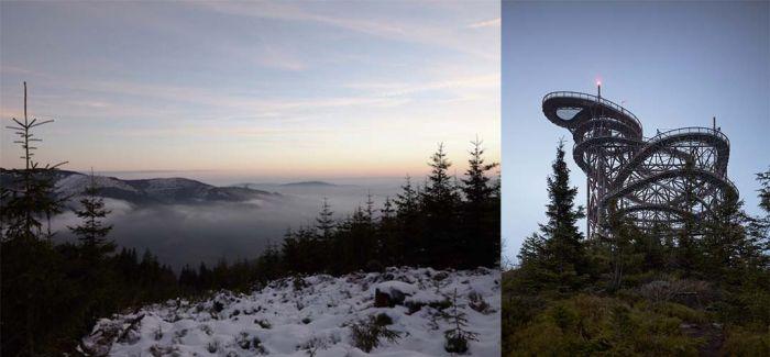 只有胆子足够大 才能在这条山顶步道看到最美的风景