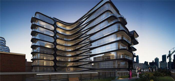 扎哈在曼哈顿设计的住宅 是一幢看起来流动的建筑
