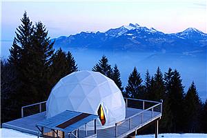 此生必去:瑞士阿尔卑斯山上穹顶帐篷屋