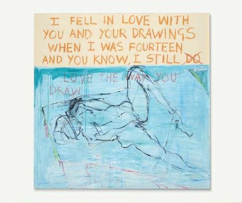 翠西·艾敏,《为我最后一幅画驱魔》(1996) 图片:Courtesy of Christie's