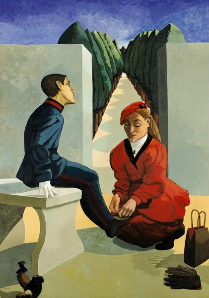 宝拉·里格《军校学生与他的姐姐》(1988) 图片:Courtesy of Sotheby's