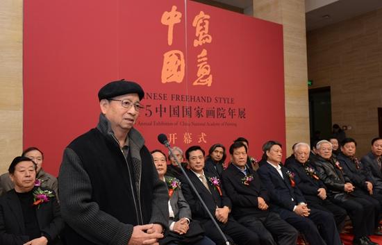 老艺术家代表谢志高在开幕式上致辞