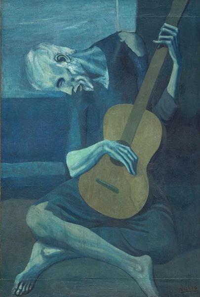 The Old Guitarist,1903–04,毕加索