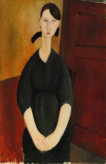 阿米地奧·莫迪里阿尼的《波萊特·茹爾丹的肖像》(Portrait de Paulette Jourdain)