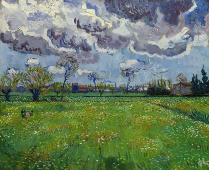 梵高的《流動天空下的風景》