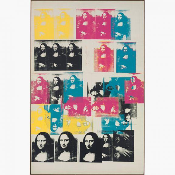 安迪·沃霍爾的《彩色的蒙娜麗莎》(Colored Mona Lisa)