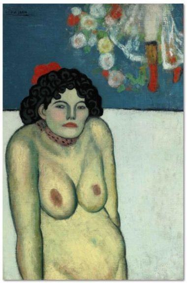 保羅·畢加索的《裝腔作勢的年輕人》(LA GOMMEUSE)