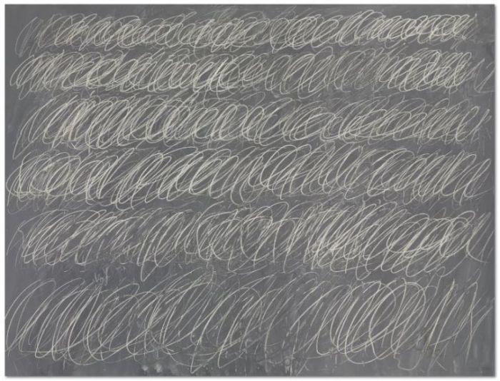 塞·托姆布雷的黑板畫《無題,紐約市》