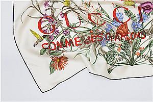 Hermès合作之后 川久保玲又找了 GUCCI 来做丝巾