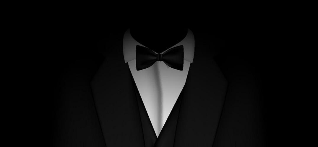 绅士领带简约头像