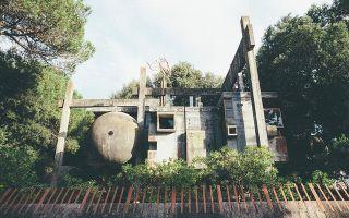 罗马郊外犹如外星基地的建筑遗迹
