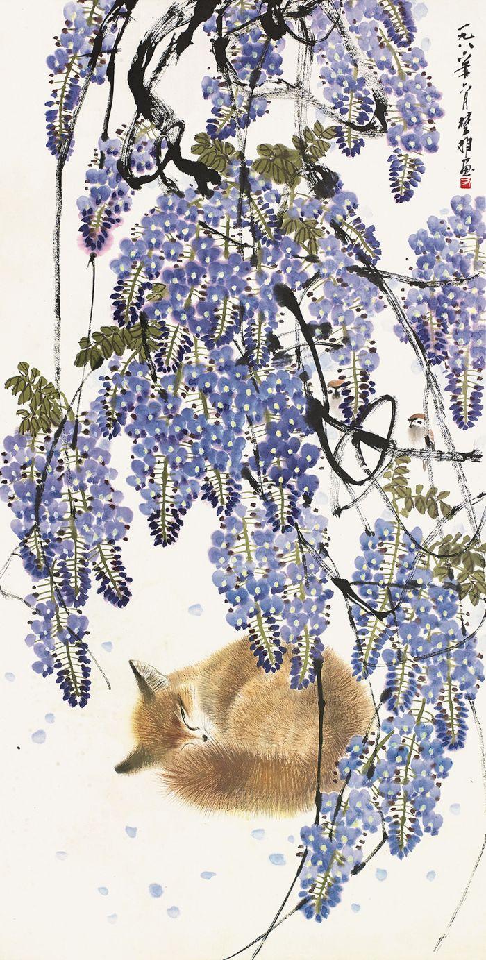名家的紫藤图片