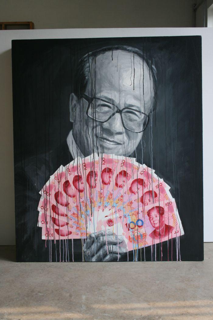 李先生 130x110 布面丙烯 2011