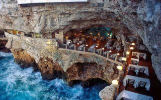 建在洞穴里的餐厅!在意大利的惊艳海景畔来一次晚餐吧
