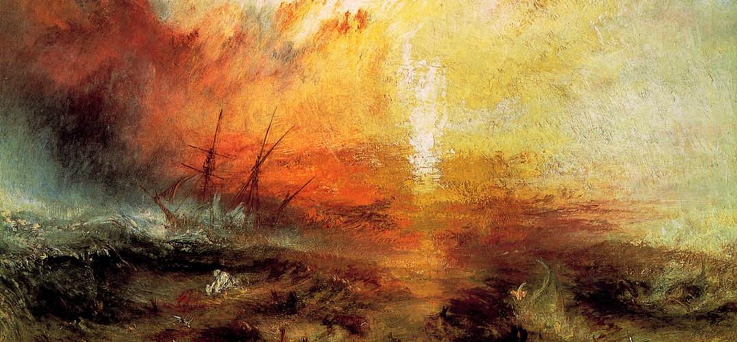 就在前几天,我在那里见过这幅作品:咆哮的大海似乎冲击着这惊人的画作