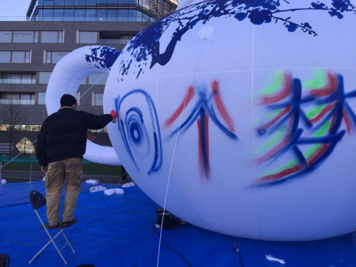 """知名旅英艺术家,英国华人协会执行会长盛气奇的创作""""同一个梦想"""""""