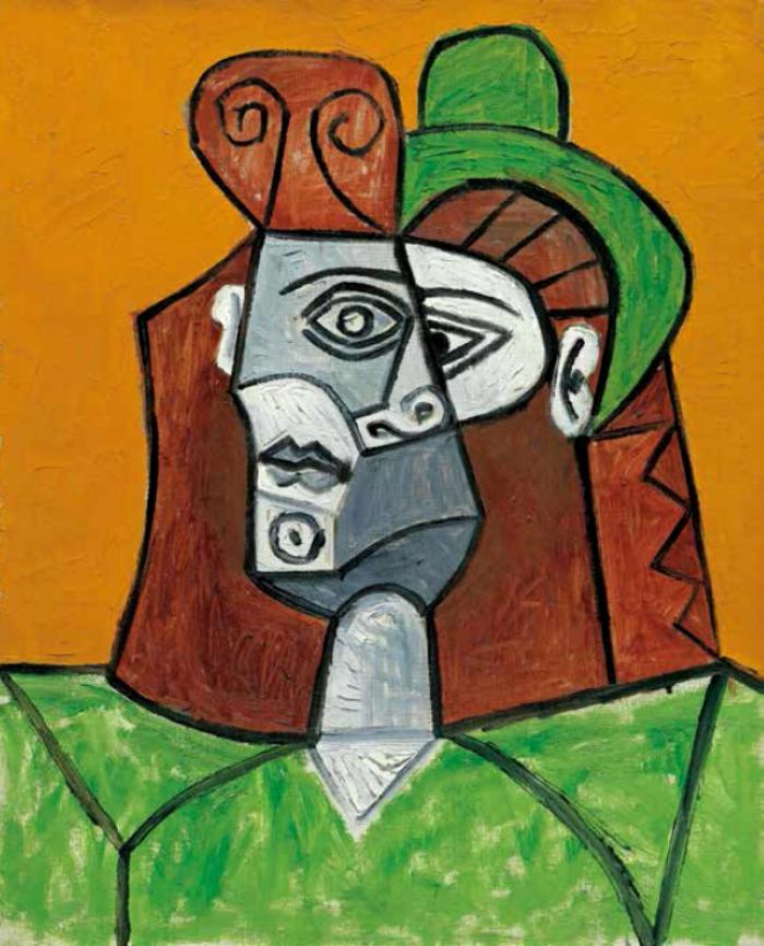 毕加索 戴帽子的女人