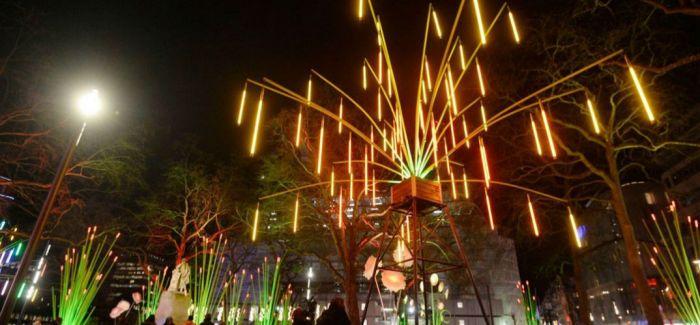 英国最大的灯节融入伦敦夜景 整个城市美如画
