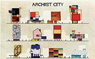 当著名建筑和艺术绘画相碰撞