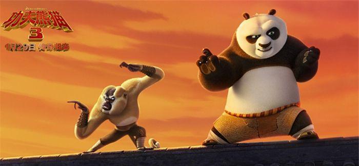 《功夫熊猫3》中国首映 阿宝说着中文回了家乡