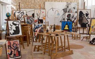 超现实主义绘画大师胡安·米罗的画室