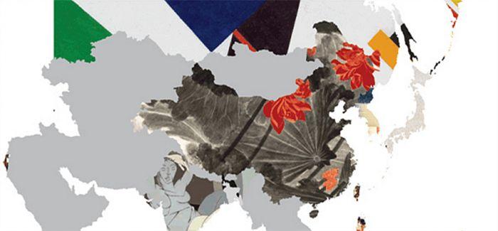 把最昂贵的名画拼贴到地图上 拼出了各国文化