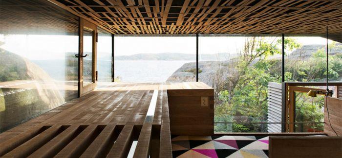 奥斯陆的这位设计师很擅长在海边岩石上修房子