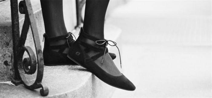 这些鞋子都是从芭蕾舞鞋演化而来
