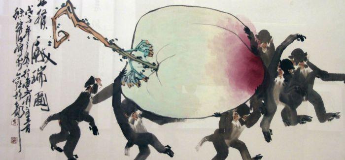 """徐培晨在纽约时代广场""""金猴献瑞""""  向全世界人民拜年"""