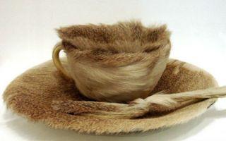 《皮毛餐具》:轰动艺术界的超现实主义茶杯的炼成之路