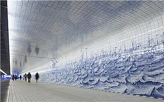 阿姆斯特丹中央火车站:隧道除了地摊还可以有艺术