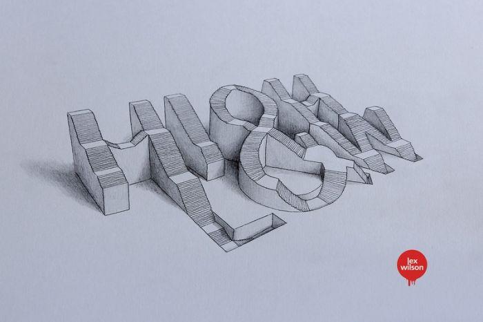 不能自拨的逼真立体3d字体设计图片