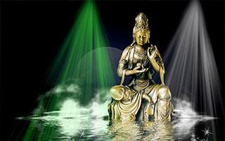 紫柏大师铜像是门徒为追慕他而精心铸造