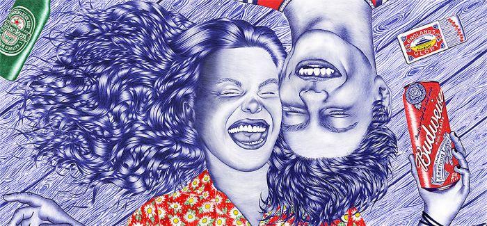 艺术家Helena Hauss 圆珠笔下的青春不羁