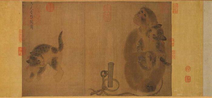 灵猴献瑞:古画中的猴趣