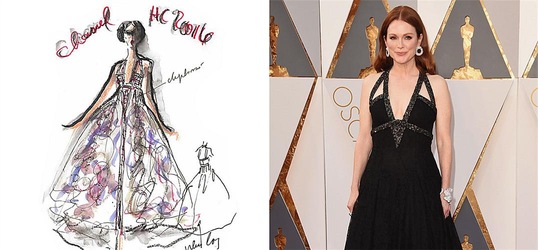 """为了昨日的奥斯卡颁奖礼,造型师Leslie Fremar详细解释自己如何与时装品牌和朱丽安·摩尔、瑞茜·威瑟斯彭等明星客户共同打造红毯造型。 美国好莱坞——在每年11至次年2月之间,奢侈时装屋都将目光转向洛杉矶。洛城一系列的颁奖晚宴与表演为红毯市场造就影响力甚巨的平台,参加典礼的女星们都将成为品牌会走动(会说话)的""""人形广告牌""""。但众多红毯秀中影响力最大的是好莱坞首屈一指的学院奖(The Academy Awards)颁奖礼。 学"""