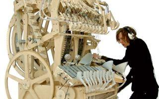 古怪新乐器Wintergatan:带有2000个弹珠的回流电路八音盒