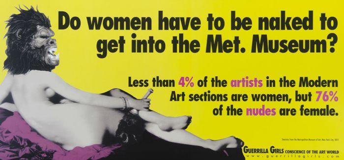 做一个幽默但三观正的人:看大猩猩女孩如何在艺术界反抗歧视