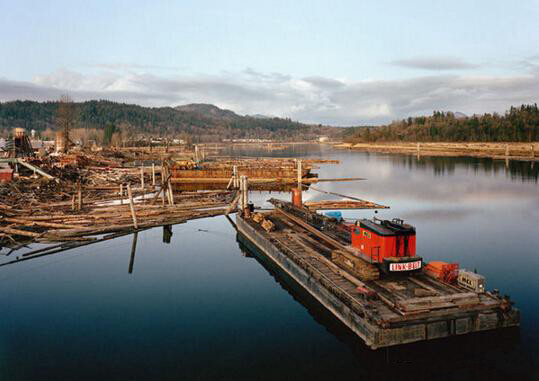 View of the Stave River from Fraser, 1993 © Stan Douglas