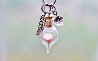 水晶球干花项链   将自然带在身边