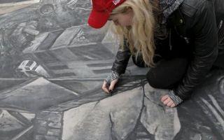"""艺术家曼哈顿街头3D绘画""""还原""""叙利亚被毁景象 呼吁和平"""