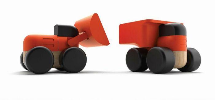 工程车木头玩具 Wheels & Buckets