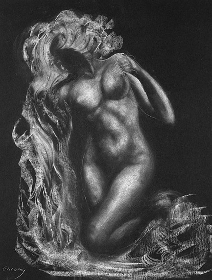 Eurydice (Draped nude)